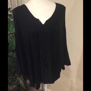 Style&Co cold shoulder blouse